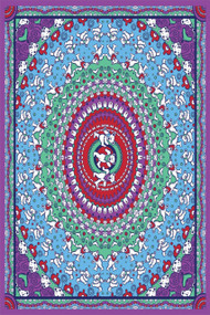 Purple Dancing Bear Grateful Dead Tapestry