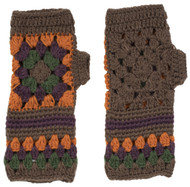 Retro Flower Fingerless Gloves (2 Left)