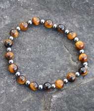 Healing Tiger's Eye and Hematite Bracelet (1 Left)