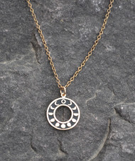 Circular Moon Phase Necklace