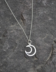 Open Crescent Moon Necklace