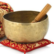 Hand-beaten Singing Bowl with Cushion