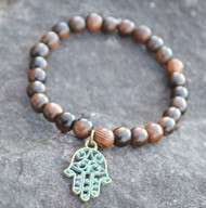 Hamsa Hand Protection Sandalwood Bracelet