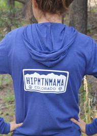 Hip Mtn Mama Colorado Blue Hoodie (S &  XL Left)