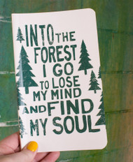 Into the Forest Recycled Notebook