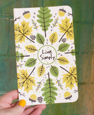Live Simply Recycled Notebook