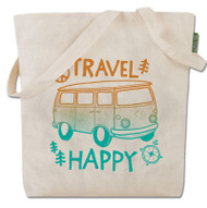 Travel Happy Tote Bag