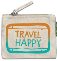 Travel Happy Small Zipper Pouch