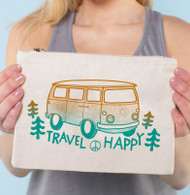 Travel Happy Large Zipper Pouch