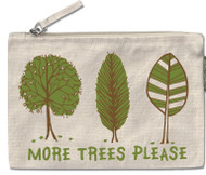 Tree Hugger Large Zipper Pouch