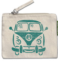 Hippie Bus Small Zipper Pouch