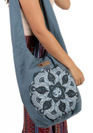 Lotus Mandala Boho Bag ~Grey~