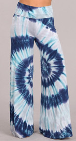 Blue Skies Palazzo Pants (3X Only)
