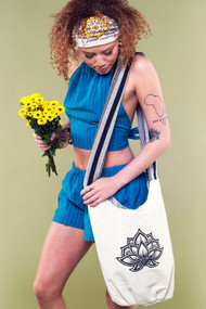 Lotus Flower Canvas Bag