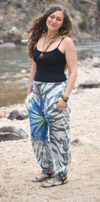 Organic Althea Joggers ~Grey Tie Dye~