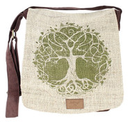 Green/Brown Tree of Life Messenger Bag