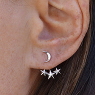 Moon & Star Ear Jackets