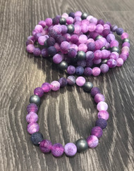 Purple Rain with Hematite Bracelet