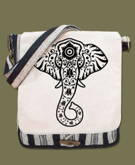 Elephant Canvas Messenger Bag