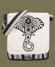 Elephant Canvas Messenger Bag