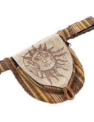Sun Moon Hemp Belt Bag