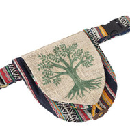 Tree of Life Hemp Belt Bag