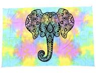 Tie Dye Elephant Tapestry