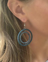 Ocean Hoop Earrings