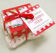 Peppermint Soap with Washcloth