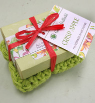 Crisp Apple Soap with Washcloth
