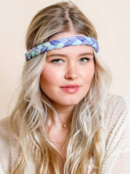 Tie Dye Braided Headwrap