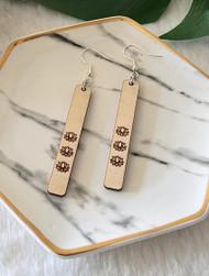 Lotus Wood Earrings