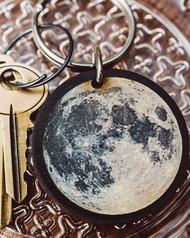 Full Moon Key Chain