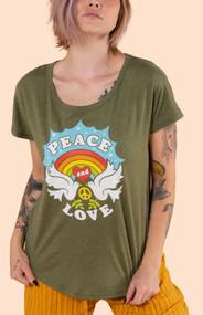 Peace & Love Slouch Tee
