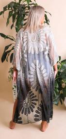 Ombre Dip Dye Lace Kimono