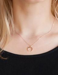Goldie Crescent Moon Necklace