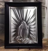 Praying Hands Black Frame