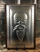 Bearded Skull with Cigar