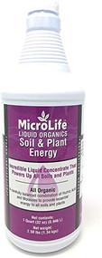 MicroLife Soil & Plant Energy Liquid Organic Concentrate Humic/Fulvic Acid & Molasses Foliar Spray or Root Stimulator, 1 QT
