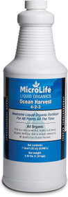 MicroLife Ocean Harvest (4-2-3) Professional Grade Organic Liquid Fertilizer Concentrate for All Plants All the Time