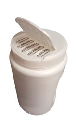 64oz Shaker Jar with Built in Handle and a flip top lid with large ovals.