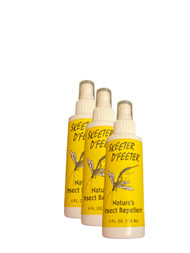 Skeeter D' Feeter 3 Pack-Natural Personal Insect Repellant 4oz.