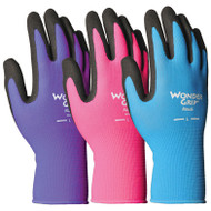 LFS Gloves (Medium) WONDER GRIP NICELY NIMBLE ASSORTED COLORS (12)