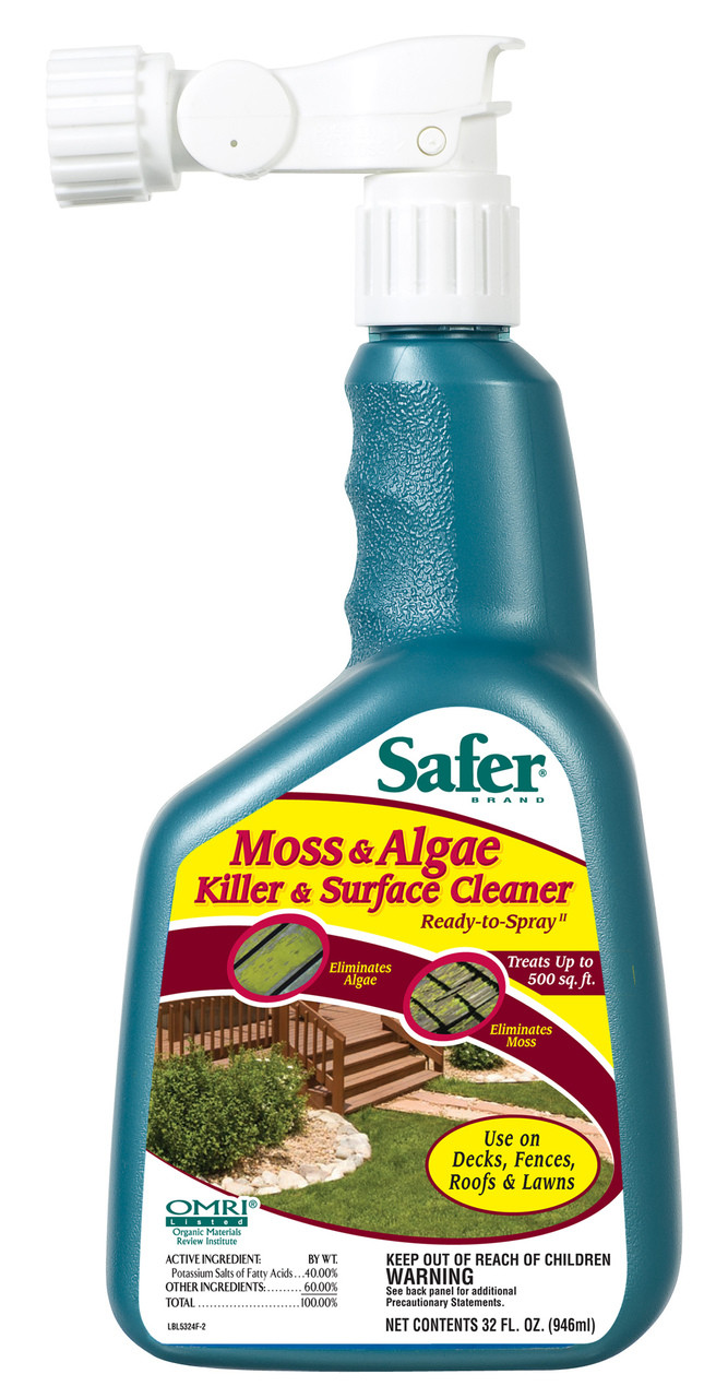 Moss, Algae Killer And Surface Cleaner 32 Oz  Hose Sprayer