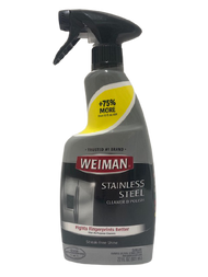 For a Streak-Free Shine! Welman® Stainless Steel Cleaner & Polish is  specially formulated to clean, shine and protect stainless steel.  • Removes fingerprints, smudges, residue & grease • Leaves a brilliant, streak-free shine • Protective coating repels dust, dirt, and resists fingerprints