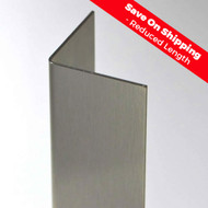"2"" x 2"" x 24"" x 16 Gauge Stainless Steel Corner Guard with a #4 Satin Finish"