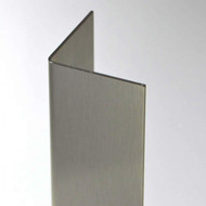 "3/4"" x 3/4"" x 48"" x 16 Gauge Stainless Steel Corner Guard with #4 Finish"