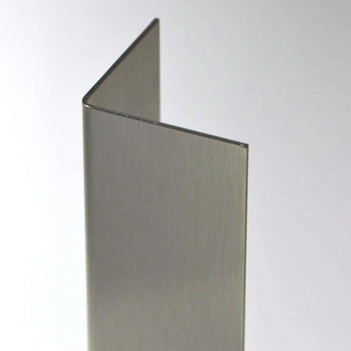 "1"" x 1"" x 48"" Stainless Steel Corner Guard"