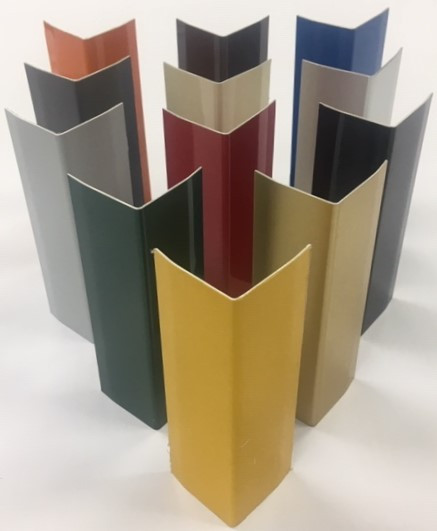 CAP Decorative Architectural Aluminum Corner Guards are made Anodized or pre-painted coil coated aluminum. Each Corner Guard is processed from the highest quality aluminum coil, mill direct, on one of CAP's computerized bending lines. Sheared, deburred, and formed.