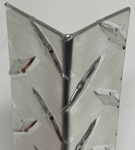 "2"" X 2"" X 48"" .063 Diamond Plate Aluminum Corner Guard"